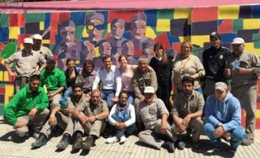 Finalizó el mural de Argentina Pinta y las Cooperativas en la Escuela N°1