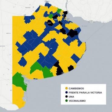 Vidal ganó en 8 de cada 10 distritos bonaerenses