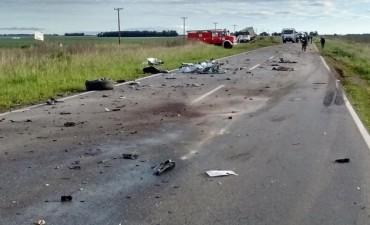 Guaminí: Nuevo accidente en ruta 65, un muerto y un herido en un impactante choque