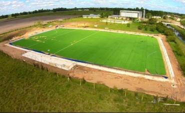 La construcción de la cancha de hockey se encuentra en su etapa final