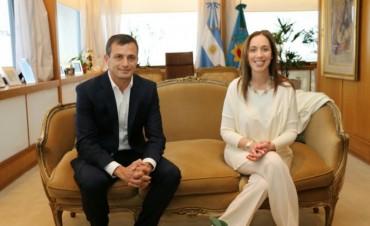 Ahora: Bucca fue recibido por la Gobernadora María Eugenia Vidal