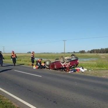 RUTA 65: Tras el accidente en el ingreso de Daireaux, una niña falleció