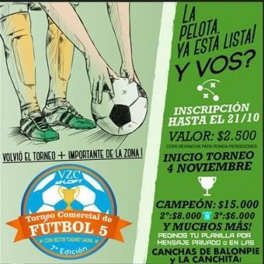 Fútbol 5: Vuelven los Torneos Comerciales en su Séptima Edición