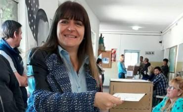 Votó Sandra Santos, Directora Regional de Desarrollo Social de la Provincia de Buenos Aires