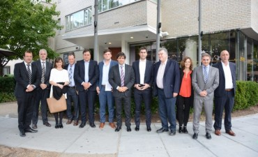Lacunza y Mosca visitaron organismos de crédito y financiamiento