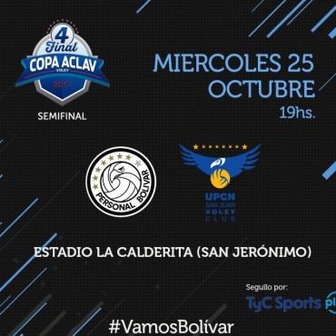 Copa ACLAV: Personal Bolívar enfrenta a UPCN en semifinales