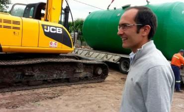Marcos Pisano (Cisterna en Villa Diamante): 'Apuntamos a mejorar la calidad de vida de los vecinos
