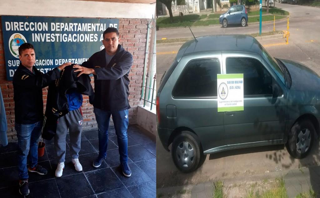 Un detenido y el auto secuestrado en la causa que investiga el robo de teléfonos  mano armada