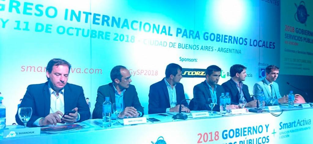 Pisano expuso sobre experiencia de Bolívar en el Congreso Internacional de Gobiernos Locales