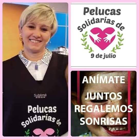 'Pelucas Solidarias 9 de Julio´ cambia Pelitos por Sonrisas