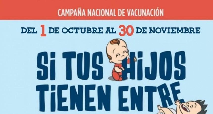 Comienza en la jornada de hoy lunes 1, la campaña de Vacunación contra Sarampión y Rubeola