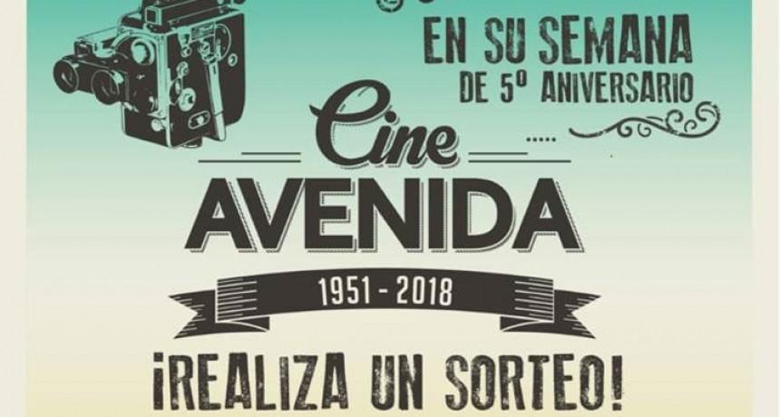 El Cine Avenida cumple 5 años desde su reinauguración y lo festeja con una gran programación y espectaculares sorteos