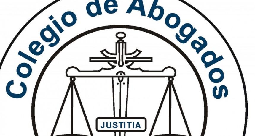 Comunicado del Colegio de Abogados del Departamento Judicial de Azul