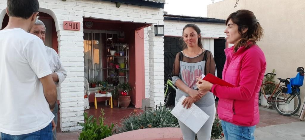 EL INTENDENTE PISANO CAMINÓ BARRIO LOS ZORZALES