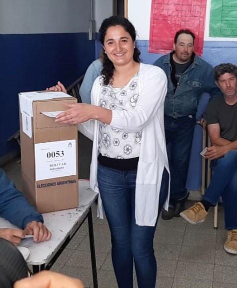 Votó Emilia Palomino