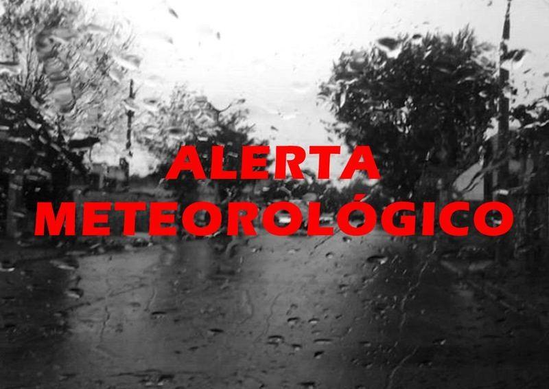 Alerta emitida por el Servicio Meteorológico Nacional