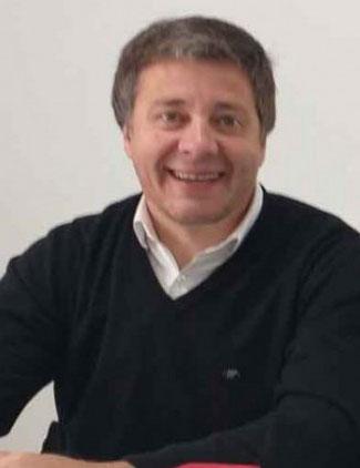 Juan Carlos Moran recorrió la obra de la escuela N.º 502 acompañado de Fernando Álvarez de Celis