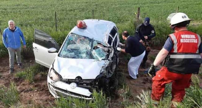 Suipacha: Violento choque, sobre el trazado de la ruta nacional 5