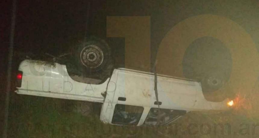 Un vecino de la ciudad resulto sin lesiones tras un vuelco en Ruta 226 km 362
