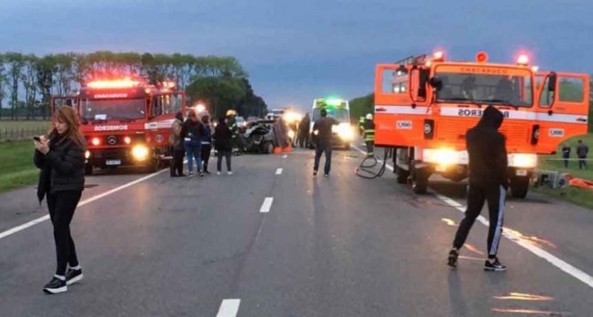 Chacabuco: Fatal accidente en Ruta 7 dejo como saldo dos personas fallecidas