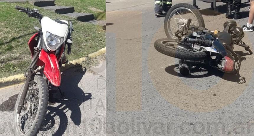 Dos motocicletas protagonizaron un impacto en Av. 9 de julio y Av. Brown