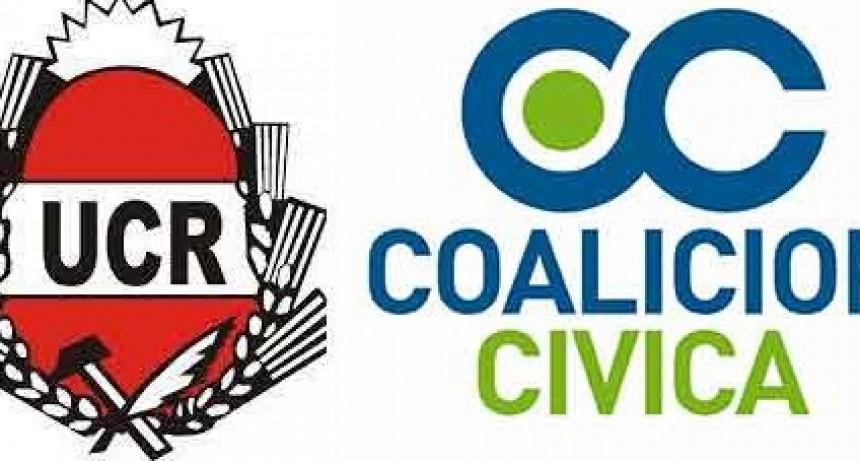 Comunicado oficial de la UCR y la CC en repudio a la viralización de un video