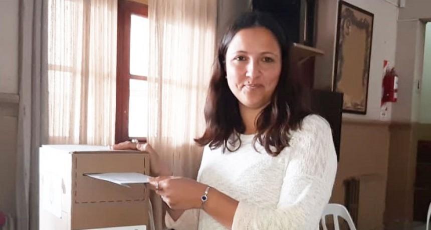 Votó Patricia Oroz