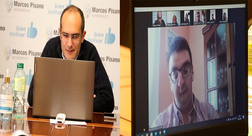 El intendente municipal Marcos Pisano participó de un encuentro virtual con representantes de la Dirección Nacional de la Agencia de Discapacidad (ANDIS),