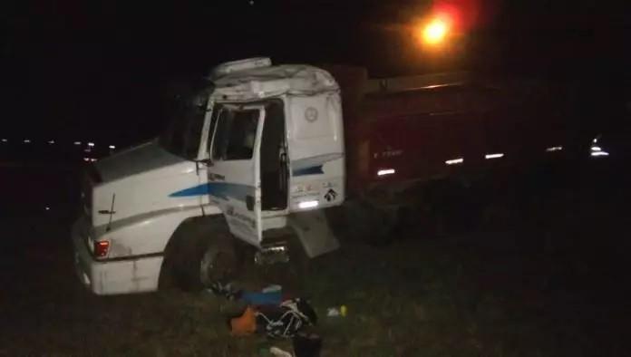 Ruta 205: Choque de camiones con un muerto y un conductor en fuga
