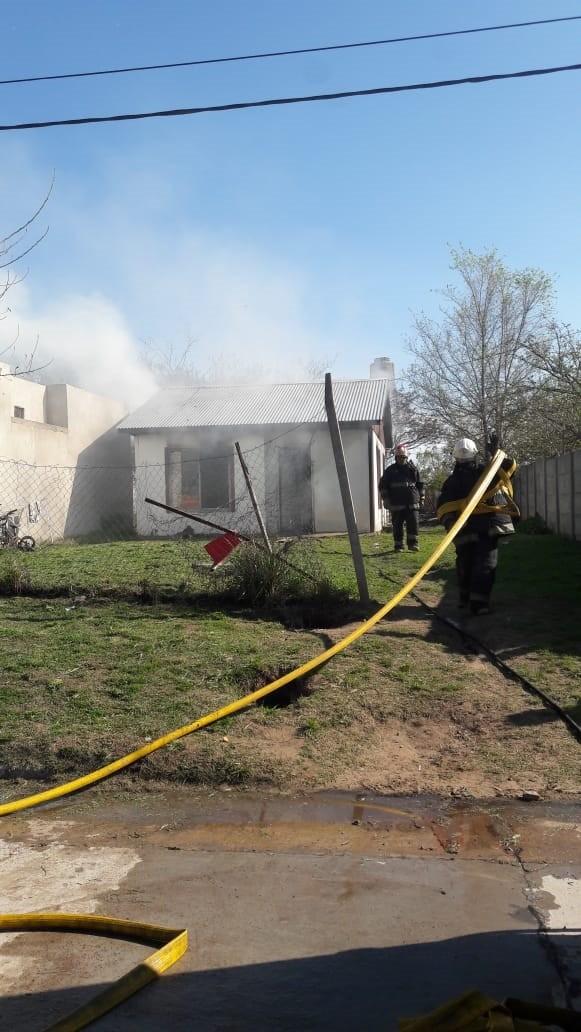 Alejandro Bersani: 'Los daños en la vivienda son muy importantes, había mucho material para combustión'