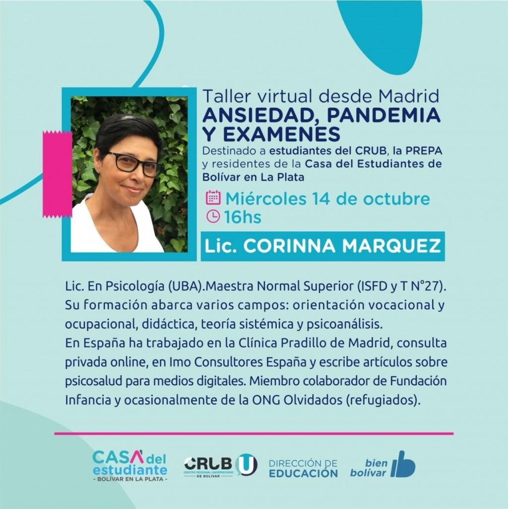 Corina Márquez: 'Si tuviera que volver a la Argentina, elegiría Bolívar para vivir, sin dudas es mi ciudad y está hermosa'