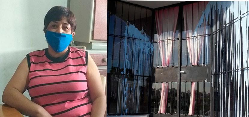 Una vecina denunció que arrojaron pintura en el frente de su comercio