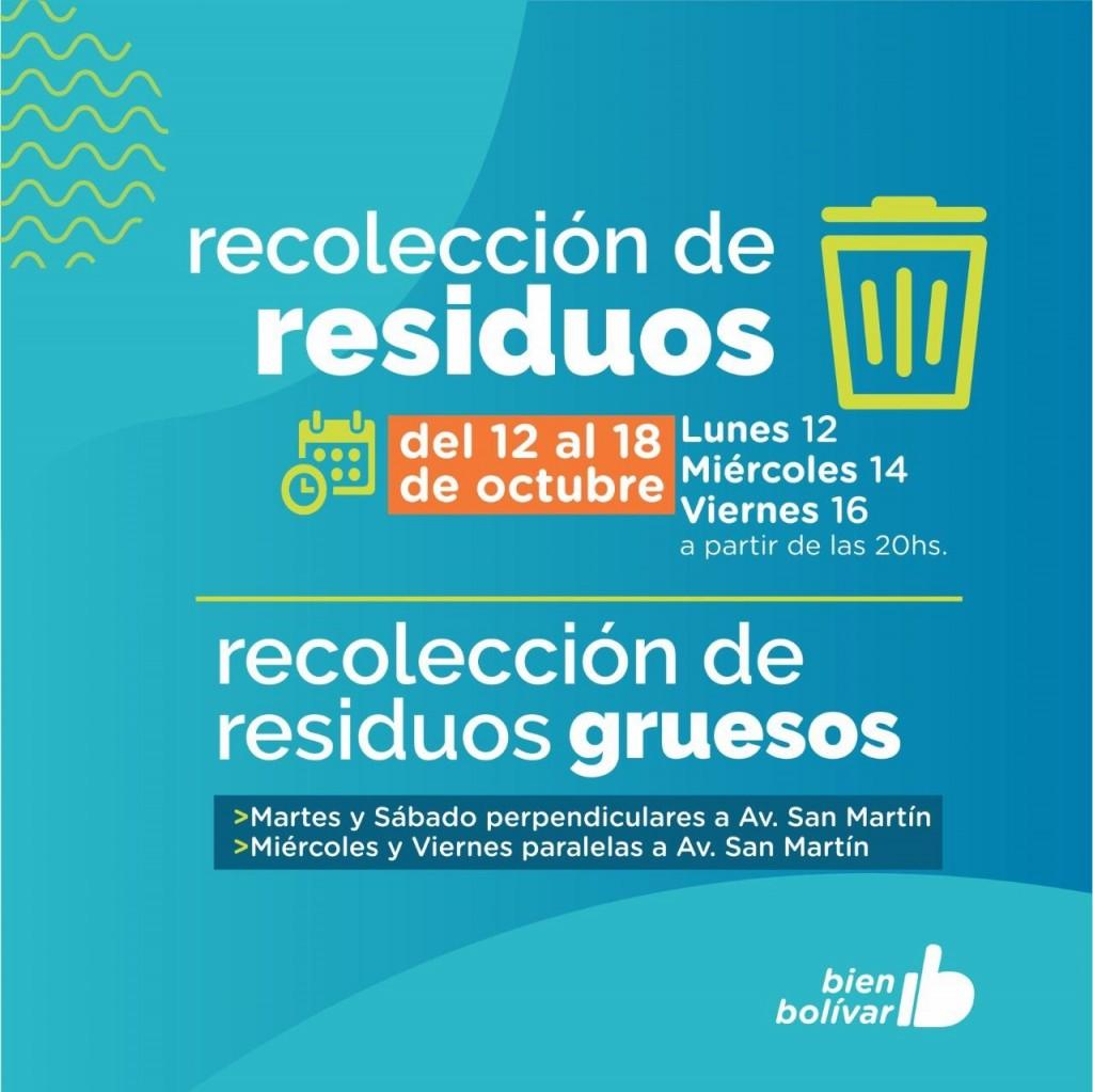 Cómo será la recolección de residuos este fin de semana largo