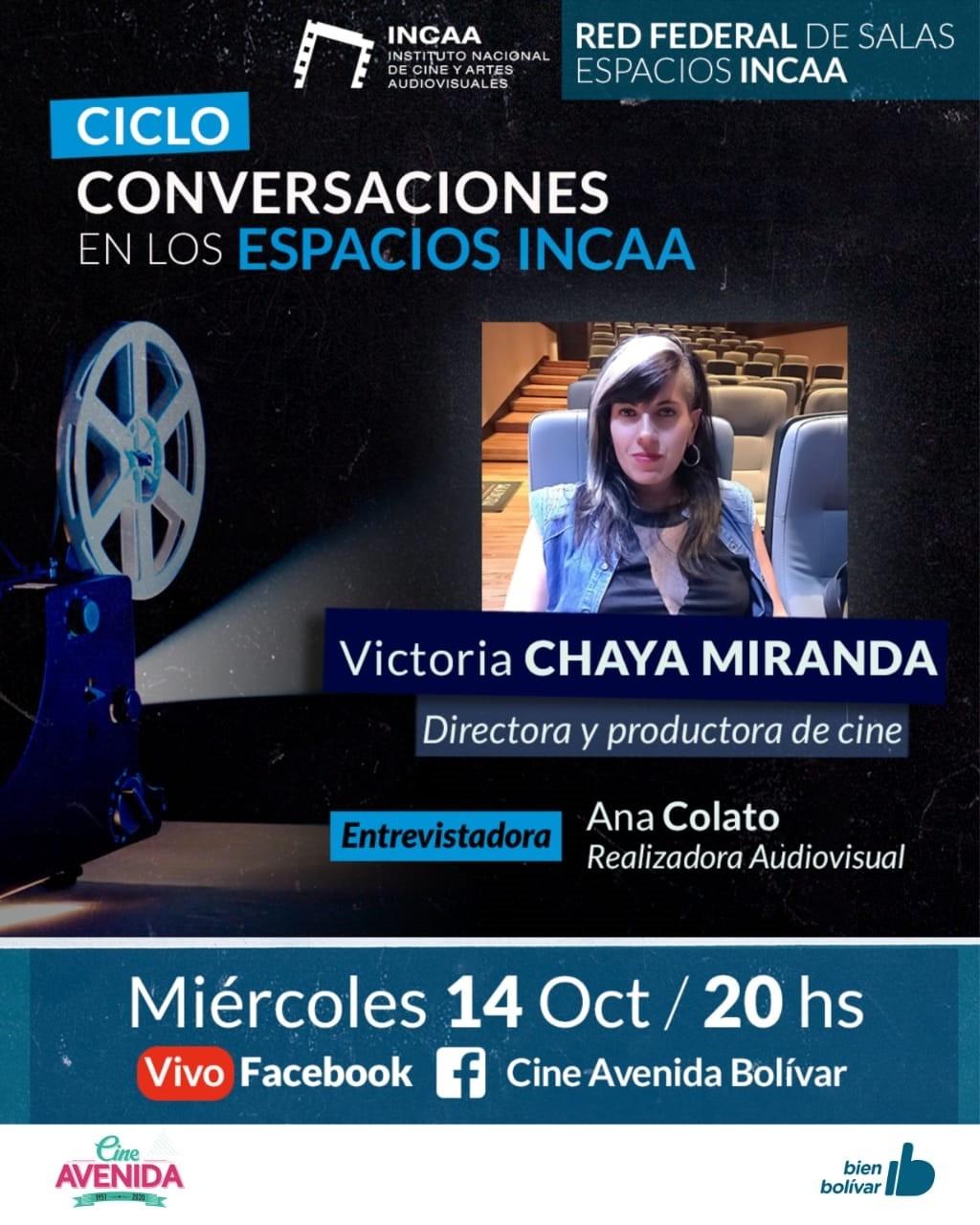 Chaya Miranda, hija de una bolivarense llega al Cine Avenida a través de los espacios INCAA
