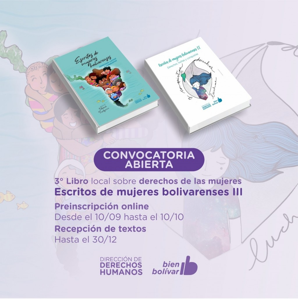 La dirección de Derechos Humanos extendió hasta el 30 de octubre el plazo para la inscripción de escritoras