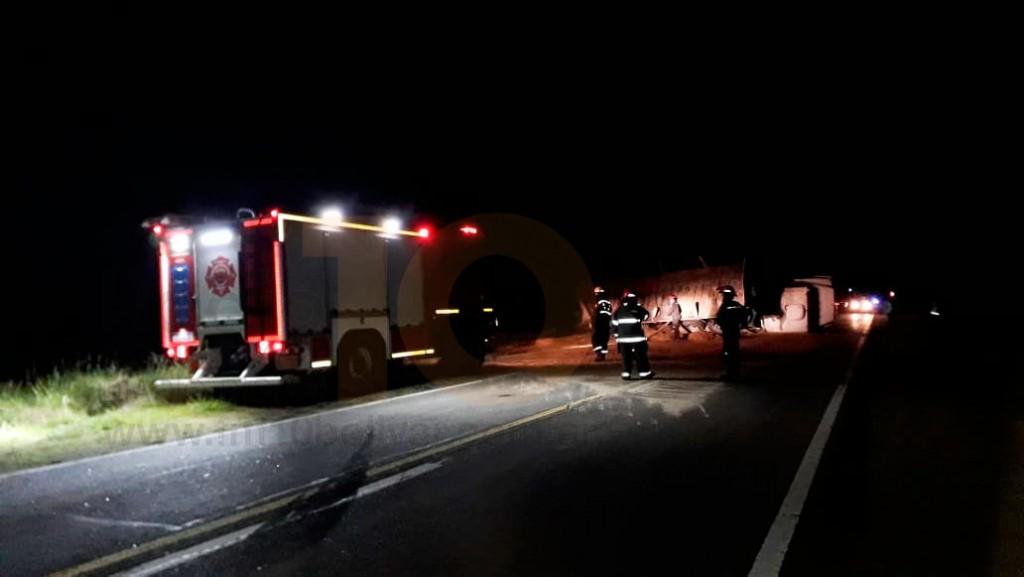 """Jorge García: """"Se trabajó en devolver el camión a su posición y en la limpieza de la ruta"""""""