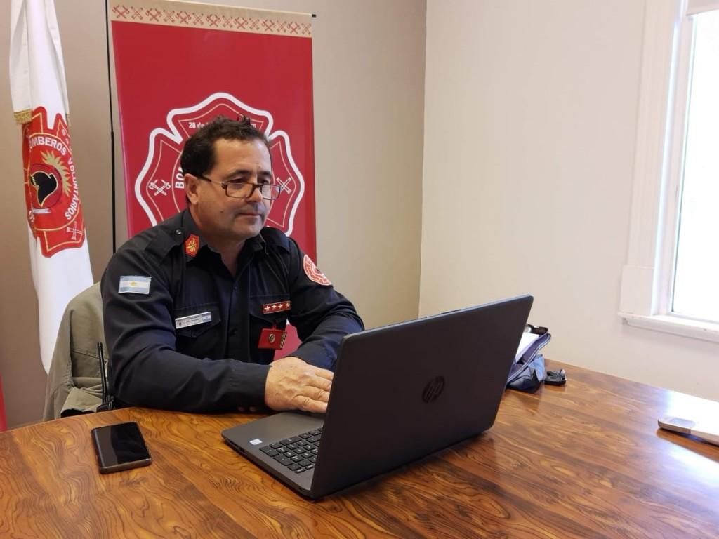 """Jorge García: """"Es muy importante para ganar minutos en los incendios forestales, contar con la base de datos que denominamos Georreferenciación Rural"""""""