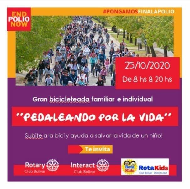 """Rotary organiza una bicicleteada """"Pedalear por la Vida"""""""