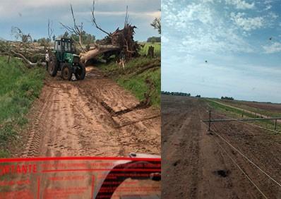 Finalizaron los trabajos generados a raíz de la tormenta del domingo