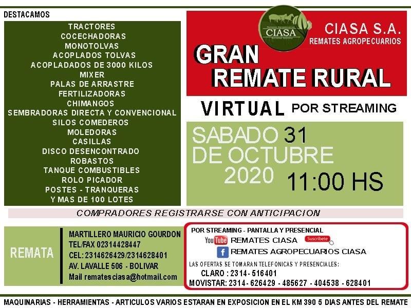 Se realiza este sábado el Remate Rural de CIASA