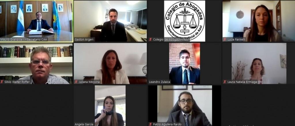 """Cuarta jura virtual del Colegio de Abogados Departamental: """"Llevamos adelante una gestión que privilegia la construcción colectiva"""""""