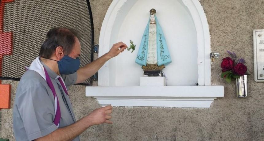 Entronizaron la imagen de la Virgen de Luján en la Estación de Ferrocarriles