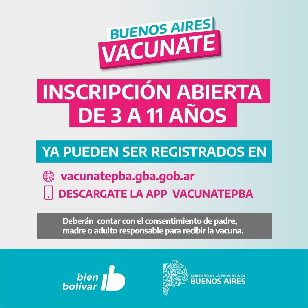 La Administración Nacional de Medicamentos, Alimentos y Tecnología Médica (ANMAT) ya autorizó la vacunación de niños y niñas de 3 a 11 años