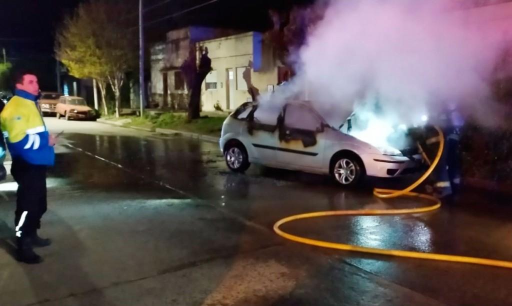 Incendio de un vehículo