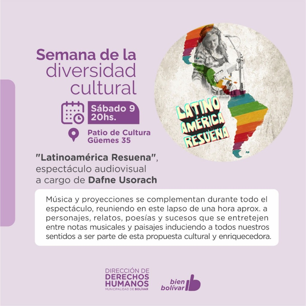 Se desarrollarán actividades gratuitas por la Semana de la Diversidad Cultural