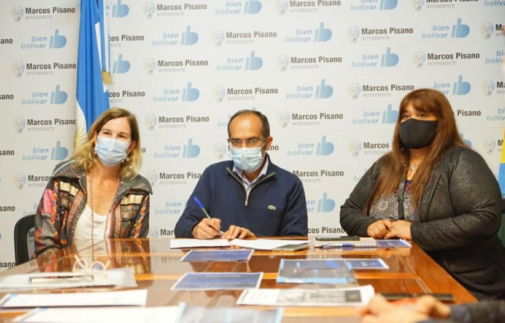 Pisano firmó un convenio con el Instituto de Políticas Públicas de Prevención de Grooming