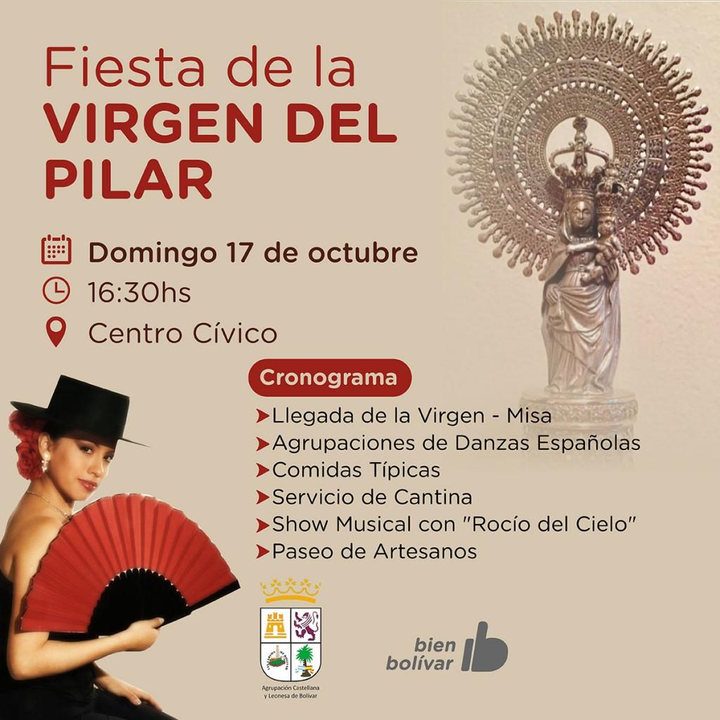 La Municipalidad acompaña la fiesta de la Virgen del Pilar