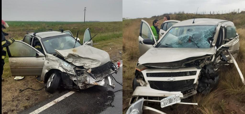 Fuerte impacto entre dos automóviles en Ruta 226 km 426 dejo como saldo un fallecido