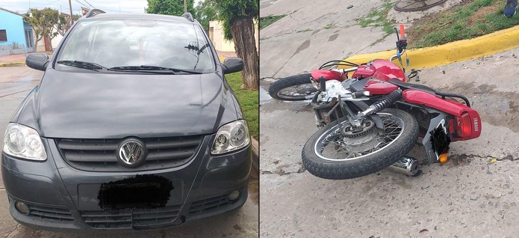 Motociclista hospitalizado por prevención tras un impacto en Larrea y Rafael Hernández