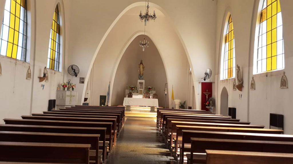"""Daniela Gerea; """"Es una motivo de agradecimiento y celebración por poder tener la parroquia en la localidad'"""